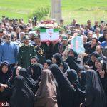 مراسم تشییع پیکر جانباز شهید غلامرضا رفیعی
